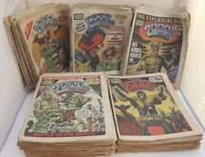 Large Collection of 160+ Vintage 2000AD Comics, Featuring Judge Dread 1980s