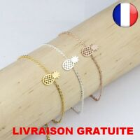 ★★★ Bracelet Chaine Fin Ananas Mode Style Reglable Femme Bijoux wristlet Top ★★★