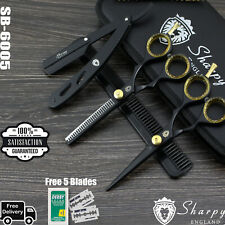 """5.5"""" Professional Hairdressing Scissors Thinning Shears Set Barber Hair Cutting"""
