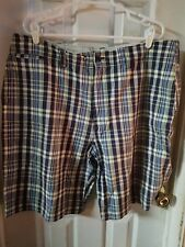 Steve & Berry's Mens Shorts Blue Plaid Checked Striped Size 40