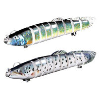 Swimbait Lure Multi Jointed Fish Wobblers Lifelike Fishing Lure 9 Section F F7C9