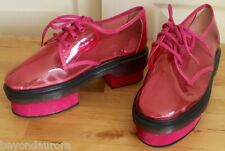 Buffalo X Solestruck So Happy Together Pink See-Through Platform Oxford Boots 8