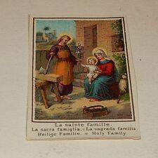 Vignette Image Pieuse Chromo : La Sainte Famille (image 2)