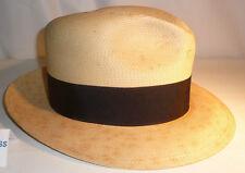 Chapeau de paille avec ruban noir Jean Vergeade Chateauroux