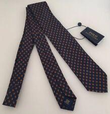 POLO RALPH LAUREN TEAR DROP Print 100% Soie Bleu Marine Cravate Fabriqué En  Italie BNWT 6e3a9bf3925
