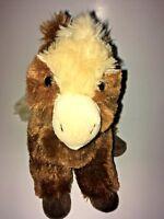 "CS INTL Brown And Cream  Horse   10"" Plush Stuffed Animal"