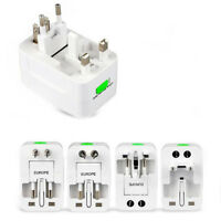 Universal Travel Adapter Electric Plug Power Socket With USB Charger Connector