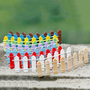 2PCS Mini Fence Miniatures Barrier Fairy Garden Wooden Crafts Home Decorations