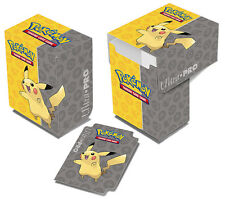 Ultra Pro Pokemon Pikachu Full-View Deck Box NEW holds 82 trading cards