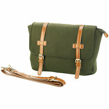 Schultasche: Messenger-Bag im Querformat, in Filz- & Leder-Optik