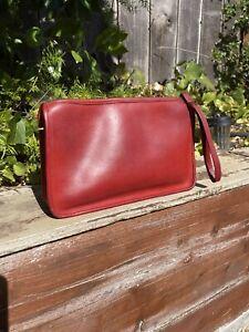 Authentic Vintage 9455 Coach Basic Red Bag Wristlet Clutch Shoulder Bag