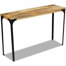 vidaXL Mango Wood Hall Console Display Side Table Desk Steel Frame Industrial