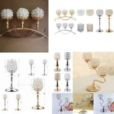 Christmas Crystal Candle Holder Candlestick Wedding Decorative Table Centerpiece