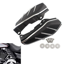 Flame Engine Air Deflectors Heat Shield Trim For Harley Road King FLHR 2009-2018