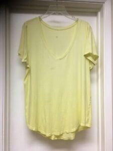 Lululemon Love Tee V Neck Lemon Ice Yellow Pima Cotton Short Sleeve Top 10 12 ?