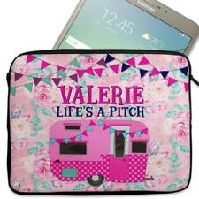 "Personalised Tablet Case CARAVAN Neoprene Sleeve Cover 7"" 8"" 9"" 10"" 11"" KS67"