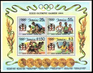 "JAMAICA 580a - Los Angeles Summer Olympics ""Souvenir Sheet"" (pb40225)"