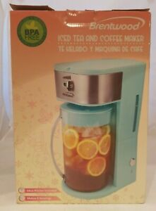 New Brentwood Appliances KT-2150BL Iced Tea And Coffee Maker Teal