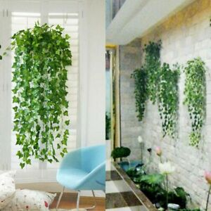 Artificial Ivy Leaf Trailing Hanging Garland Foliage Home Office Outdoor Plants