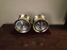 "Vintage Jason Empire 6"" Ship's Bell Barometer & Hydrometer in Brass"