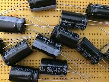250V 2.2uF 4.7uF 22uF 33uF 47uF Aluminium Electrolytic Capacitors Multi Qty