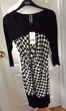 Stunning NEXT Black & White Stretch Bodycon Dress - Size 10 Petite - BNWT £35