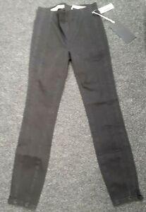 "ladies BNWT ""Anthropologie"" black leggings (size 25ins waist (petite))"