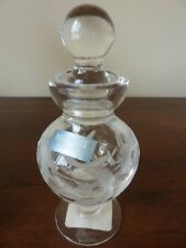 NEW Marquis by Waterford Yours Truly Crystal Etched Heart Perfume Bottle NIB