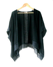 Womens Katies sz 8 10 12 Black Cotton Layer Kaftan Top