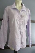 Jones New York Shirt Top Cotton Button Down Purple Texture 16 16W XL 1X Non-Iron