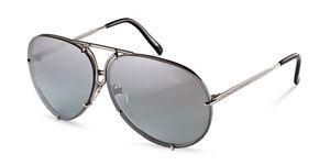 NEW Authentic PORSCHE DESIGN Silver Titanium Pilot Sunglasses P 8478 B 69 MM