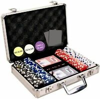 Professional Set Kit of 200 Poker texas Hold'em Chips Great Gift