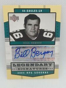 Bill Bergey 2004 Upper Deck Legendary Signatures Auto Card #LS-BB Rams Autograph