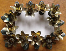 12 Vintage Flower Christmas Feather Tree Pine Cone Candle Clips Germany