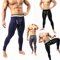 Men's Baselayer Long Johns Underwear Warm Cotton Legging Pants Thermal Trousers