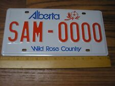 Mint Alberta Wild Rose Country Sample Auto License Plate SAM 0000