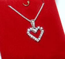 Alltagstauglicher Diamant Herz Anhänger in 585 Weißgold / von Seconddiamonds
