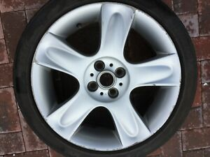 "BMW MINI COOPER S 17"" BULLET R91 ALLOY WHEEL & TYRE 6763299 R50 R52 R53 7Jx17 #1"