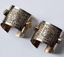 2 alte schwere Armreife massiv Silber ziseliert 370g Handarbeit Armreif Tuareg ?