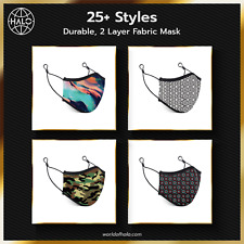 Fabric Face Mask Reusable 25+ Fashion Designs/Style w/ Dual Layer Cotton Cloth
