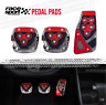 Sports Racing Accelerator Car RED Brake  Pedal Pads Covers Universal Manual