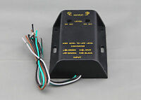 SPEAKER TO RCA CONVERTER - HIGH TO LOW LINE LEVEL ADJUSTABLE ADAPTER 2 CHANNEL