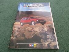 Jun 1986 VAUXHALL OPEL NOVA ASTRA GTE MANTA SENATOR MONZA GSE CATALOGUE BROCHURE