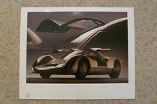 1966 Porsche Carrera 6 906 Coupe Showroom Advertising Poster RARE! Awesome 17x13