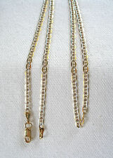 10k Two Tone Gold 'Mariners' Link Chain - 16 Inch