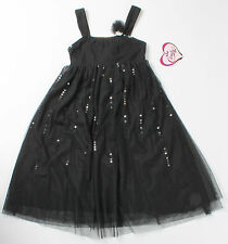 NWT girls size 12 black mesh dress w/ black sequins by Candie's!  Christmas!