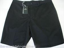 AQUASCUTUM Black Shorts sz UK 36 MADE IN ITALY rrp £150 BNWT