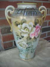 "FINE NIPPON HAND PAINTED AND SIGNED 12"" x 8"" VASE"