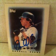 1986 Topps Mini Darrell Evans Auto Signed Card