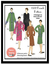 1920s Dresses and Dressing Gown Vintage French Sewing Pattern - Reproduction